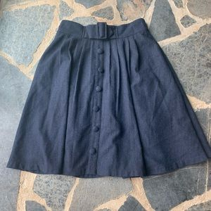 ModCloth retro style navy wool skirt